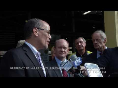 U.S. Secretary of Labor visits Delaware Business - Sights & Sounds