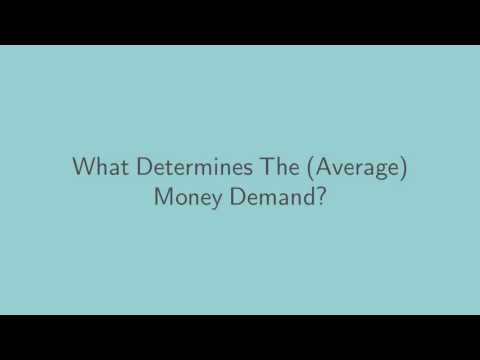 Lecture 15: the Demand for Money and the Price Level