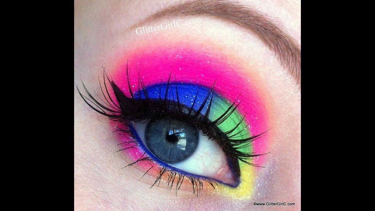 Sugarpill Electro Cute Neon Makeup Tutorial