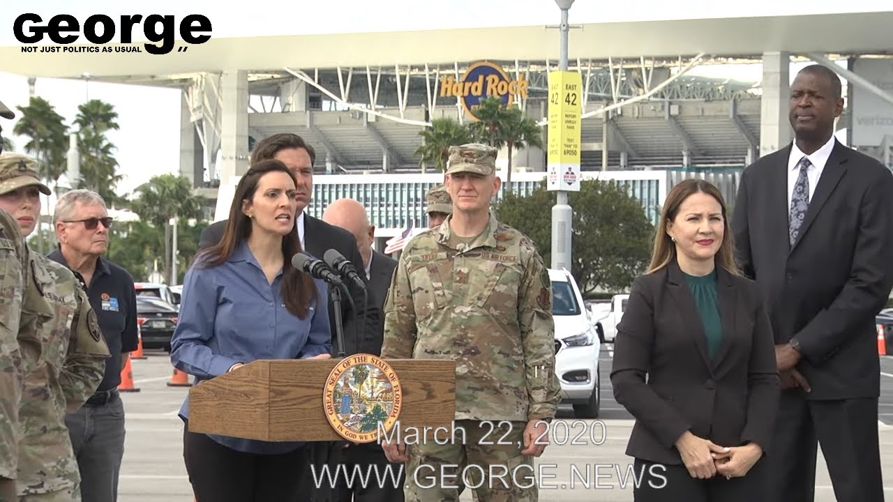 Governor Ron DeSantis's COVID-19 Press Conference at Hard Rock Stadium, Part 2, MARCH 22, 2020