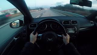 2012 Volkswagen Golf GTI 35 Edition POV - MAN PUSHES CAR IN THE MIDDLE OF THE STREET [SWEDEN]