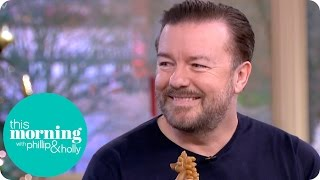 Ricky Gervais Has Holly and Phillip in Stitches and Goes Gaga Over Luna the Dog | This Morning