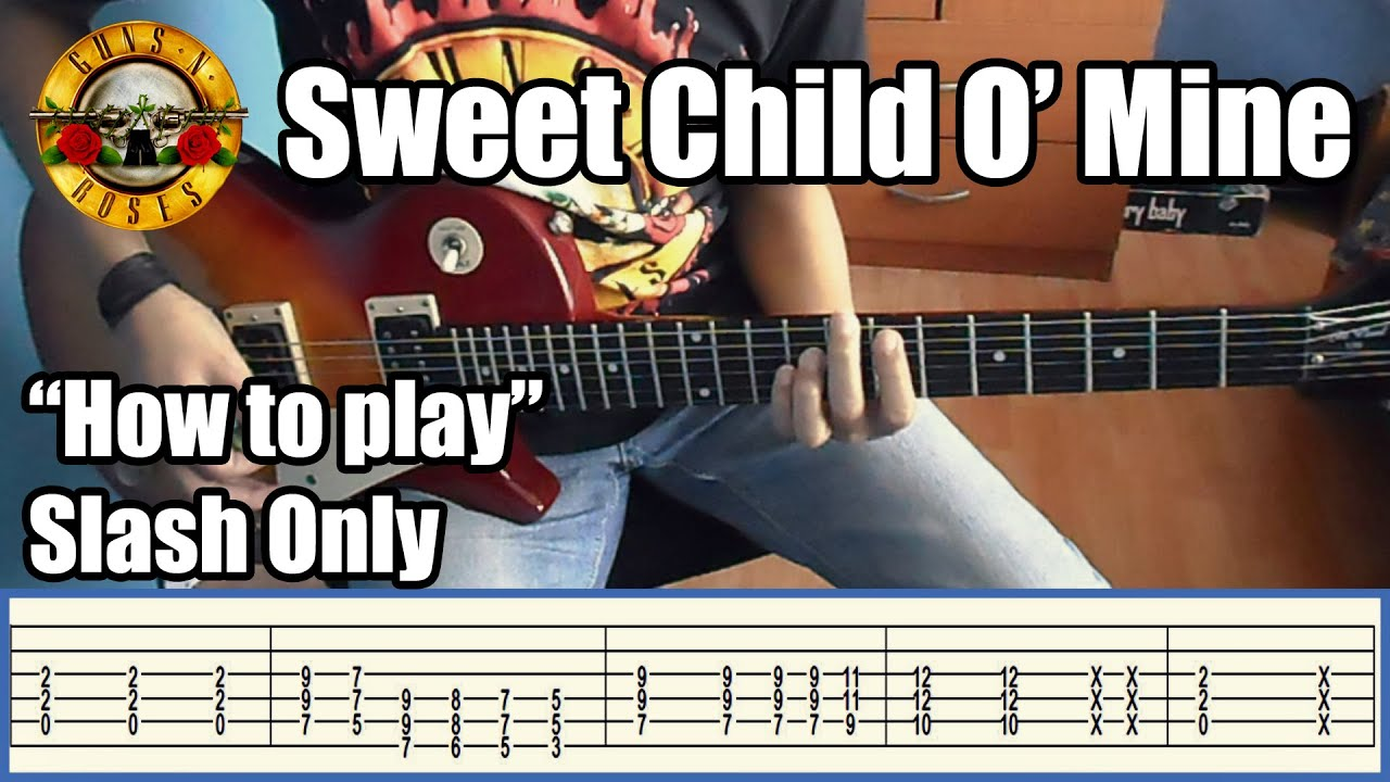 guns n 39 roses sweet child o 39 mine slash only with tabs rhythm guitar youtube. Black Bedroom Furniture Sets. Home Design Ideas