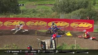 Romain Febvre Crash   MXGP of Sweden 2017