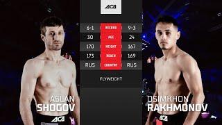 ACA 124: Аслан Шогов vs. Осимхон Рахмонов   Aslan Shogov vs. Osimkhon Rakhmonov