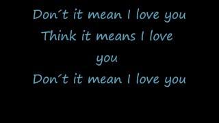 Rihanna-Te Amo Lyrics