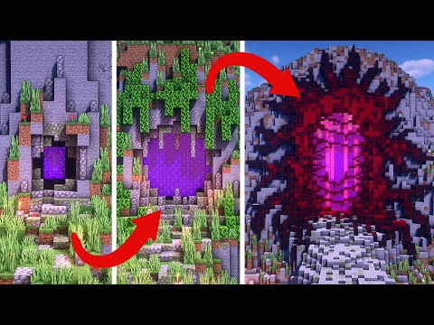 Nether Portal Minecraft Builds | BASIC Vs INTERMEDIATE Vs EXPERT