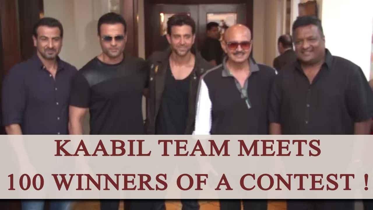 Kaabil Team Meet And Greet Their 100 Contest Winner Watch Video