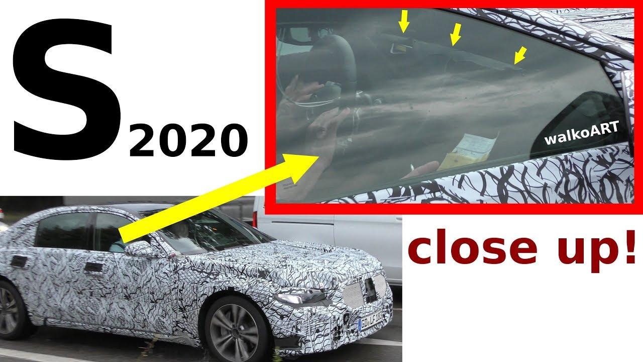 Mercedes Erlkonig S Klasse 2020 W223 S Class Close Up Getarntes Display Cockpit Disguised Spy Video