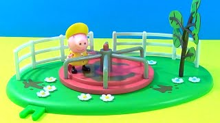 Unboxing Peppa Pig * Roundabout Playground Playset * Toy Collectable Figures