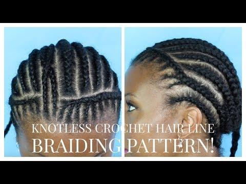 Natural Crochet Braid Hairline Braiding Pattern Youtube