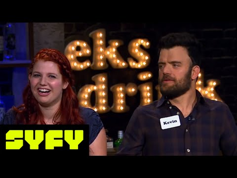 GEEKS WHO DRINK Spoilers  Tricia Helfer vs. Kevin Weisman in a Speed Round  SYFY