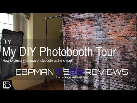 How to make a Photo Booth & Simple Booth Photo Booth Demo DIY