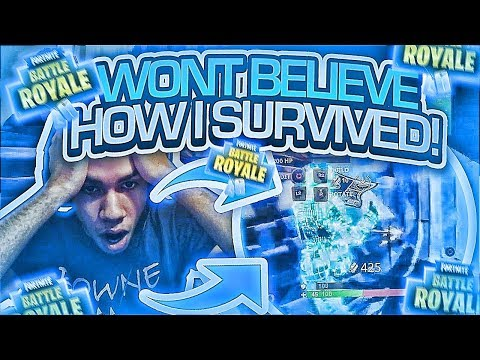 INTENSE! YOU WONT BELIEVE HOW I SURVIVED THIS! FORTNITE BATT