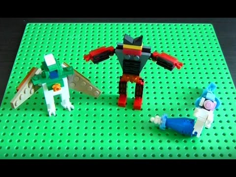 Lego Pokemon Instructions Part 21 Decidueye Incineroar And