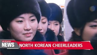 North Korean cheerleaders arrive in South Korea for PyeongChang Games
