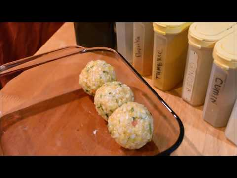 Healthy Vegetarian Vegan Rice Balls to cook as a side and/or take on the go