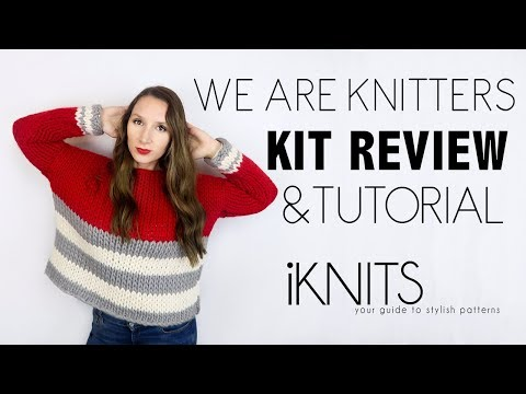 WE ARE KNITTERS KIT REVIEW   POUPA HOOPOE MINI TUTORIAL