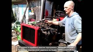 Первый запуск самодельного трактора