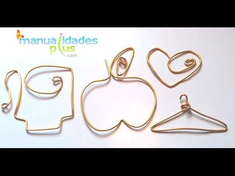 C mo hacer figuras con alambre perchas con alambre youtube for Perchas con ganchos