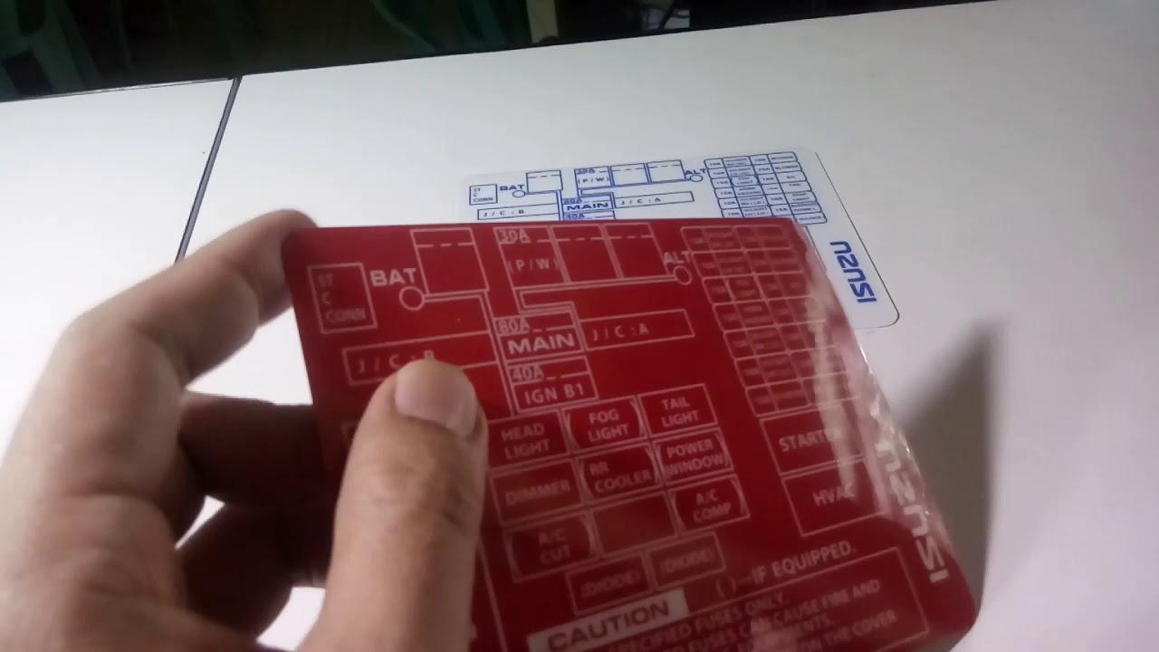 ISUZU Crosswind-Sportivo Custom Fuse Box Label - YouTube | Isuzu Crosswind Fuse Box |  | YouTube