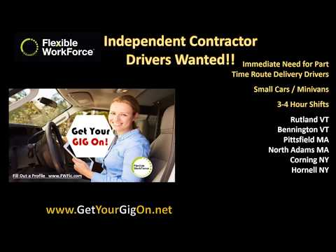 Pharma Part Time #DriversWanted for #B2C #IC  Small Package Delivery #Cars #SUV #Minivan VT/MA/NY