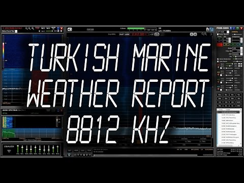 Turkish Marine Meteorological Broadcast - 8812 kHz