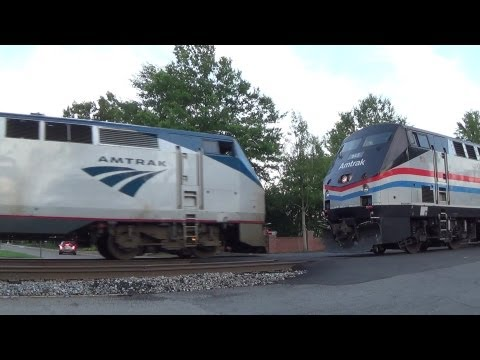 [HD] More Action On the CSX RF&P Sub, Feat. Amtrak Heritage 145 and The Juice Train: 6/27/13
