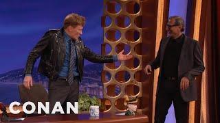 Jeff Goldblum & Conan Swap Jackets  - CONAN on TBS