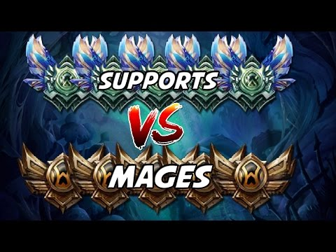 5 DIAMOND SUPPORTS VS 5 BRONZE MAGES