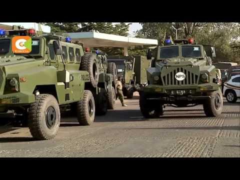 President Kenyatta flags off 500 police vehicles