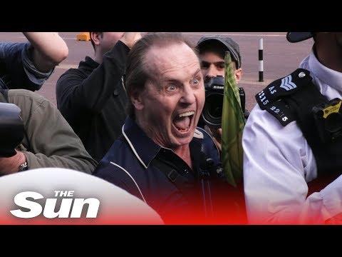 A Day At Buckingham Palace Amongst Pro And Anti-Donald Trump Protestors