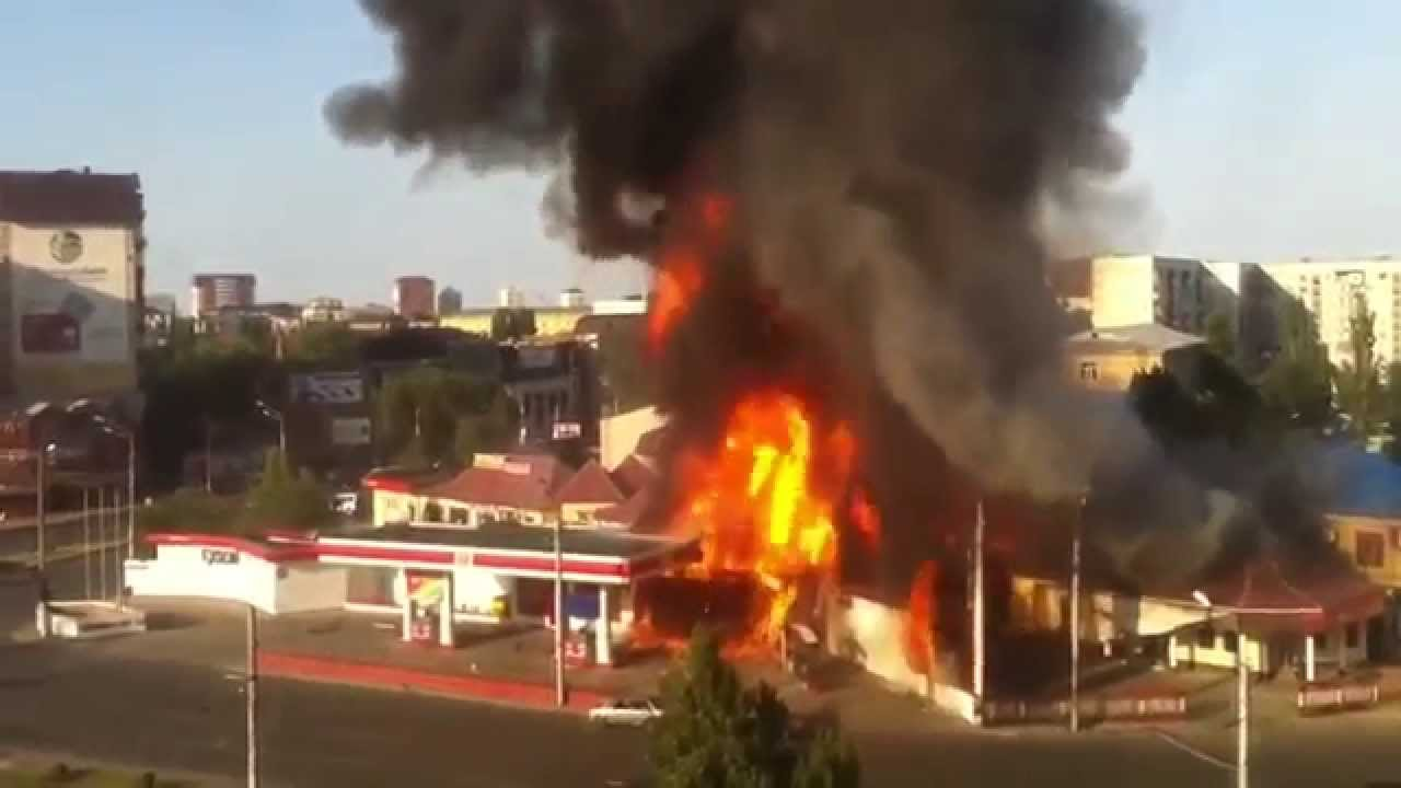 I Need A Gas Station >> Russia Gas Station Leakage and Explosion - YouTube