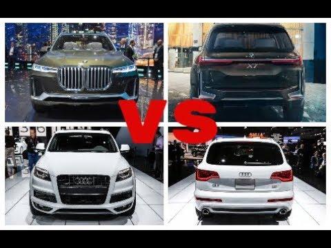 2019 Bmw X7 Vs 2018 Audi Q7 Head To Head Youtube