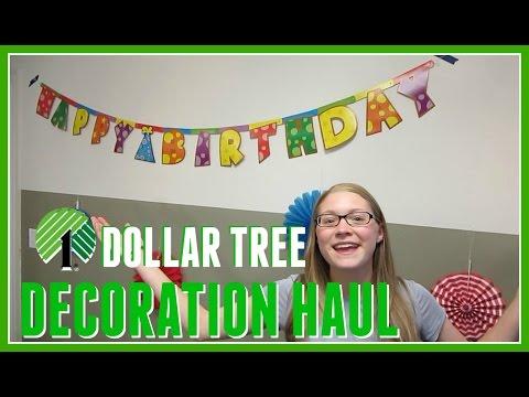 DOLLAR TREE HAUL - BIRTHDAY DECORATIONS!!!