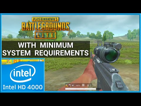 PUBG Lite (PC) With Minimum System Requirements | Intel HD 4000 Graphics | Gameplay Benchmark |