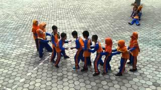 permainan penjaskes (tangkap buntut ular)