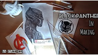 Black Panther in Making. How to draw Black Panther ~ UV
