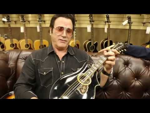 Frank Stallone Playing A 1903 Gibson F-Style Mandolin Here At Norman's Rare Guitars