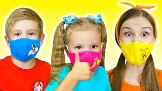 Детская песня про маски   Песни для детей от Тимы и Еси