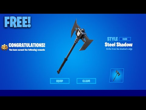 How To Get *Free* Steel Shadow Pickaxe - Fortnite Storm The Agency!