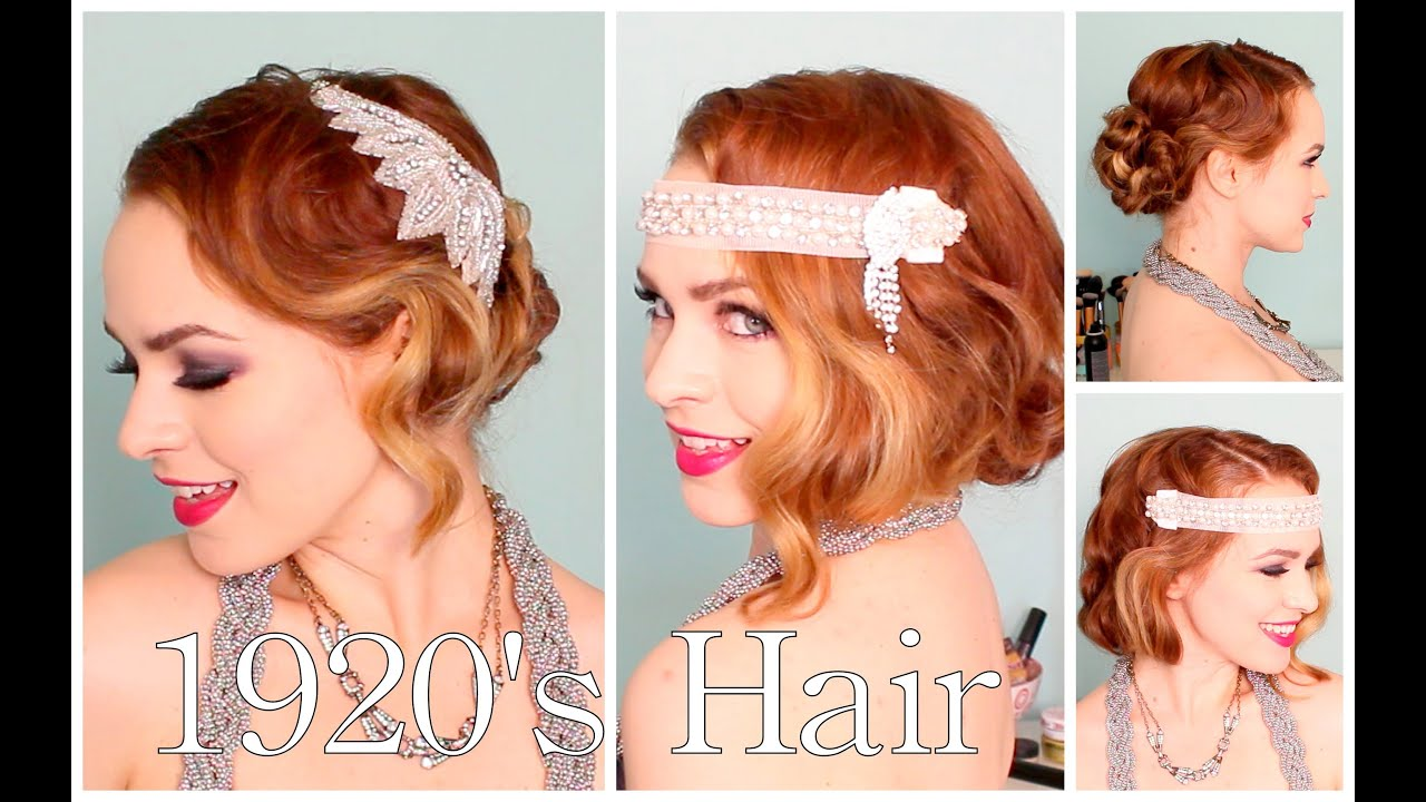 Flapper Hair Style: 1920's Faux Bob, And Updo Tutorial!!