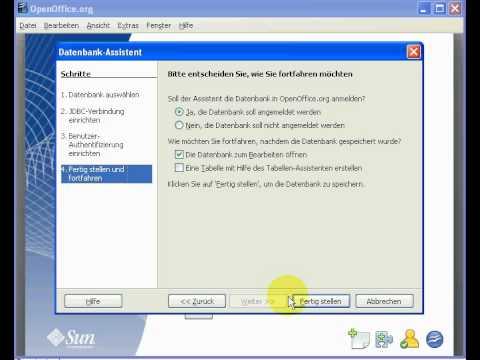 OpenOffice Anbindung An MySQL