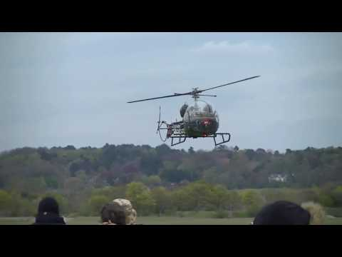 Abingdon Air and Country Show 2016: Bell 47 and Westland Scout