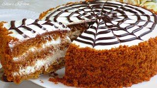 Ленивый МЕДОВИК без раскатки коржей Медовый торт тающий во рту