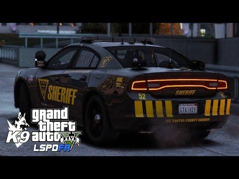 GTA V - LSPDFR - Los Santos County Sheriff K9 - Charger