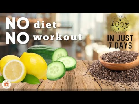 LEMON CUCUMBER DETOX WATER | 3 Simple Ingredients to lose Belly Fat