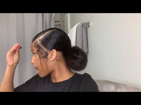 edges tutorial | low bun | senior grwm : late night thumbnail