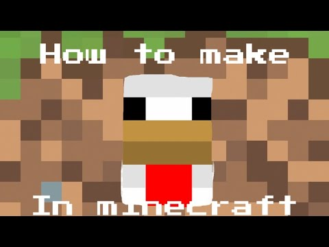 How To Make Minecraft Pixel Art Chicken Face