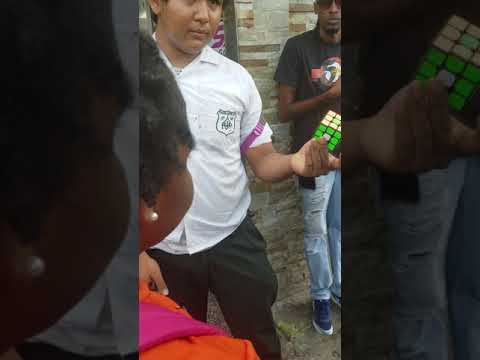 Trinidad school boy master the rubix puzzle